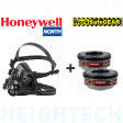 SMALL HONEYWELL NORTH 7700 Half Face Mask +  A2 Filters Medical & Industrial
