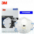 3M P2 Industrial and Medical Cupped Particulate Respirator with valve (8822) Pk-10