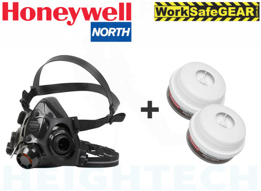 LARGE HONEYWELL NORTH 7700 HALF MASK + A1P3 Filter N06575081L Medical & Industrial
