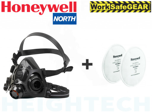 LARGE HONEYWELL North 7700 Half Face Mask + P2 Filters N7500P3  Medical & Industrial