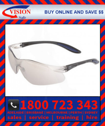 Harpoon 261 Silver Indoor/Outdoor Mirror Lens with Black Frame Safety Glasses Spec