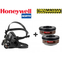 LARGE HONEYWELL NORTH 7700 Half Face Mask + A2 Filters Medical & Industrial
