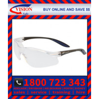 Harpoon 261 Clear Anti-Fog Anti-Scratch Lens with Black Frame Safety Glasses (261BKCLAF)