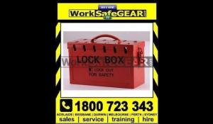 WorkSafe Group Safety Red Lockout Box 250x150x100 Red